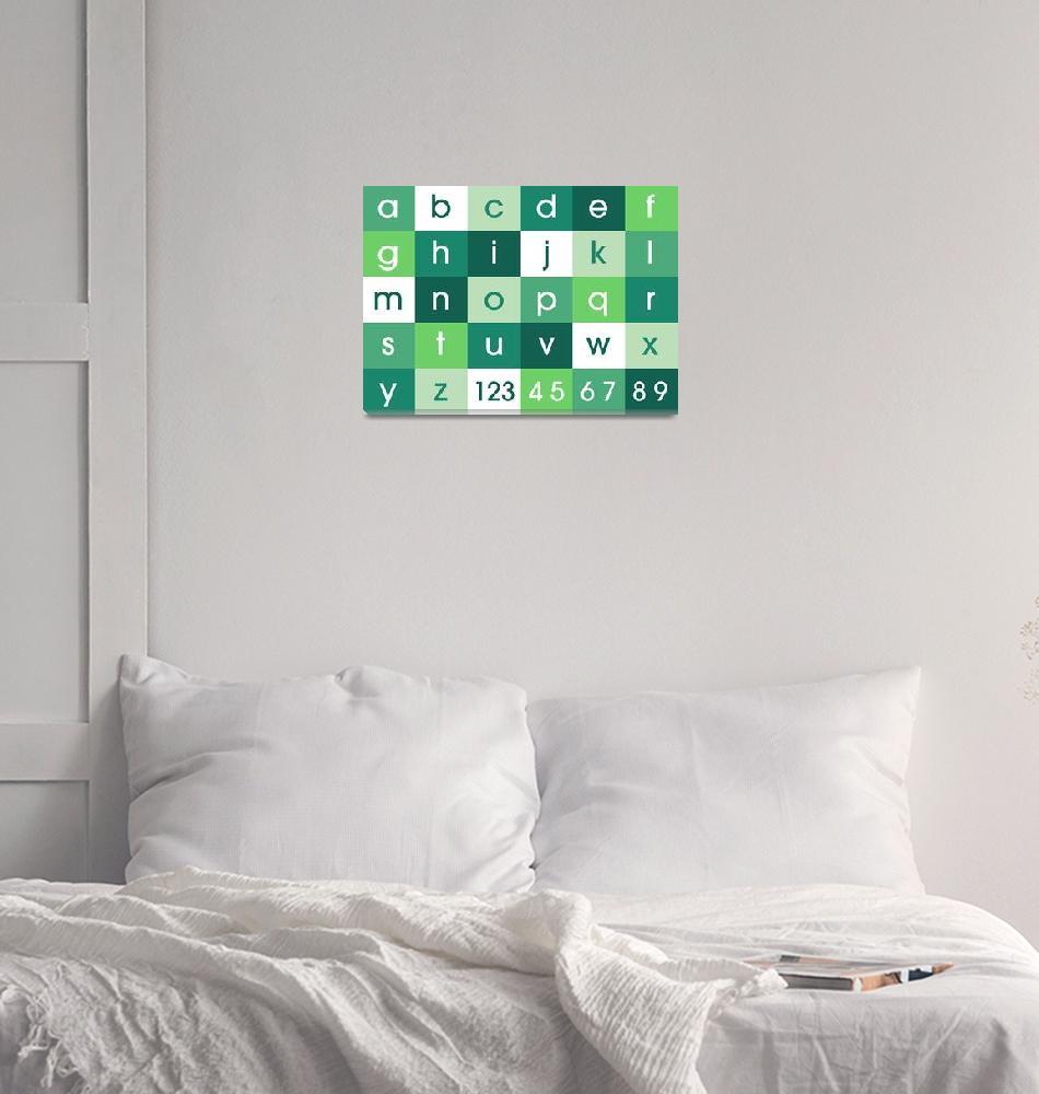 """""""Alphabet Green""""  (2011) by ModernArtPrints"""