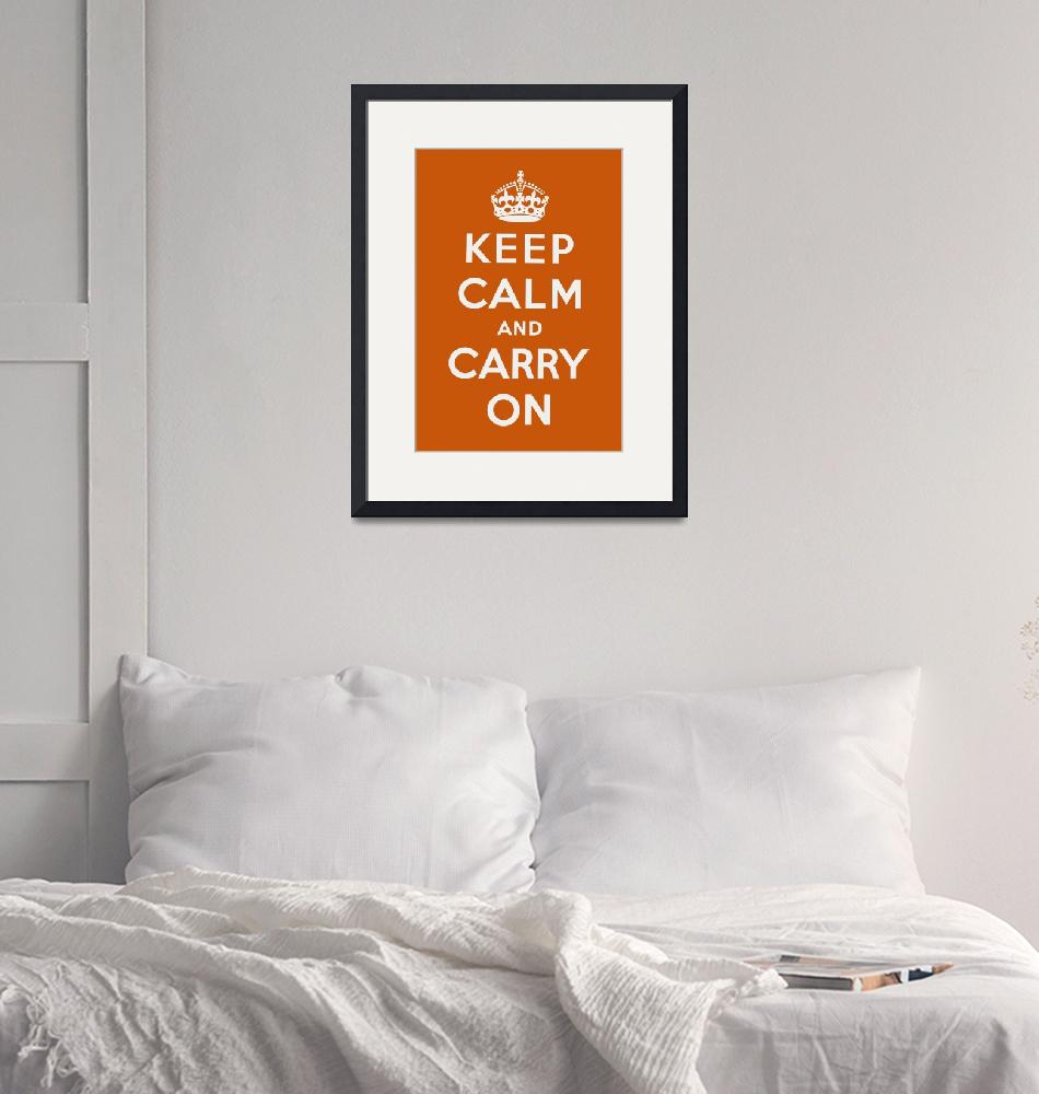 """""""Orange Keep Calm And Carry On""""  by oldies"""
