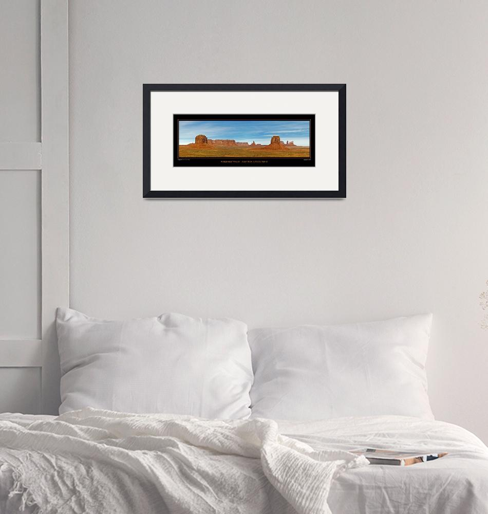 """""""POSTER - Monument Valley-Artist Point""""  (2008) by robgerman"""