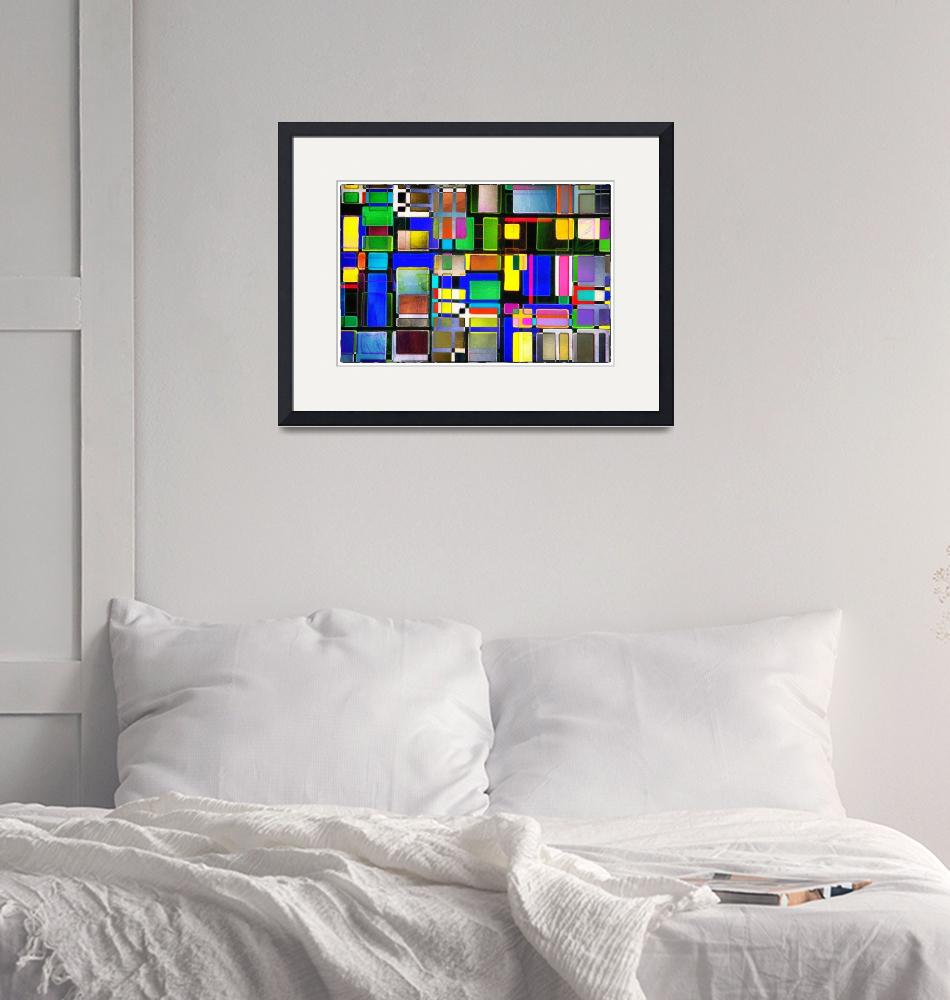"""""""Stained Glass Window II Multi-Colored Abstract""""  (2013) by NatalieKinnear"""
