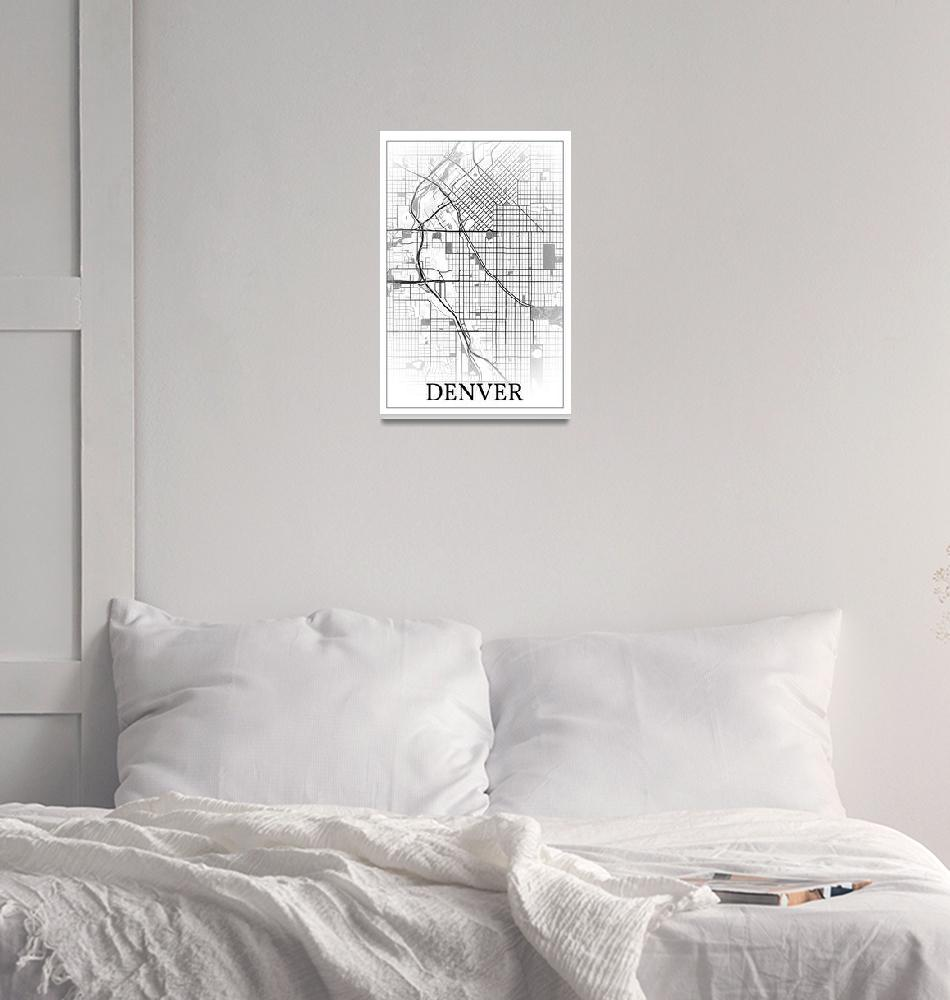 """Denver, Colorado, USA, city map print.""  by dandistudio"