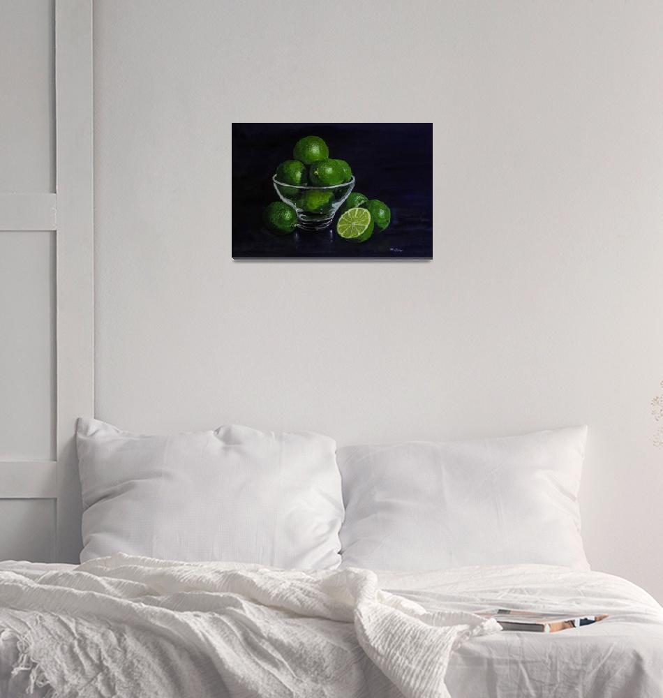 """Limes Still Life""  (2015) by RaymondOre"