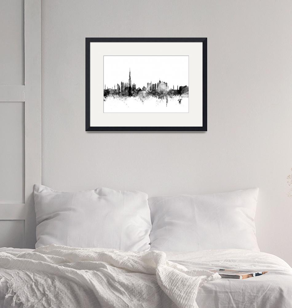"""Dubai Skyline""  (2015) by ModernArtPrints"