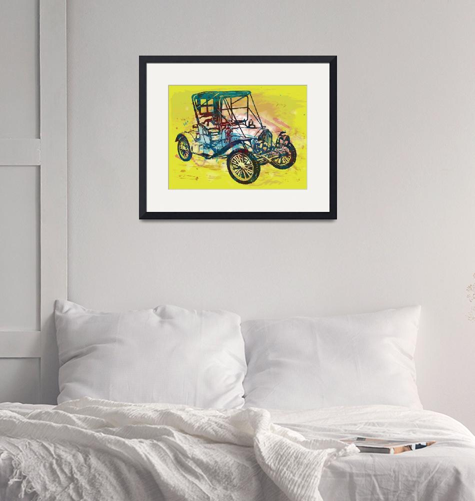 """""""Classical Car Stylized Pop Art Poster""""  (2014) by visualharbour"""
