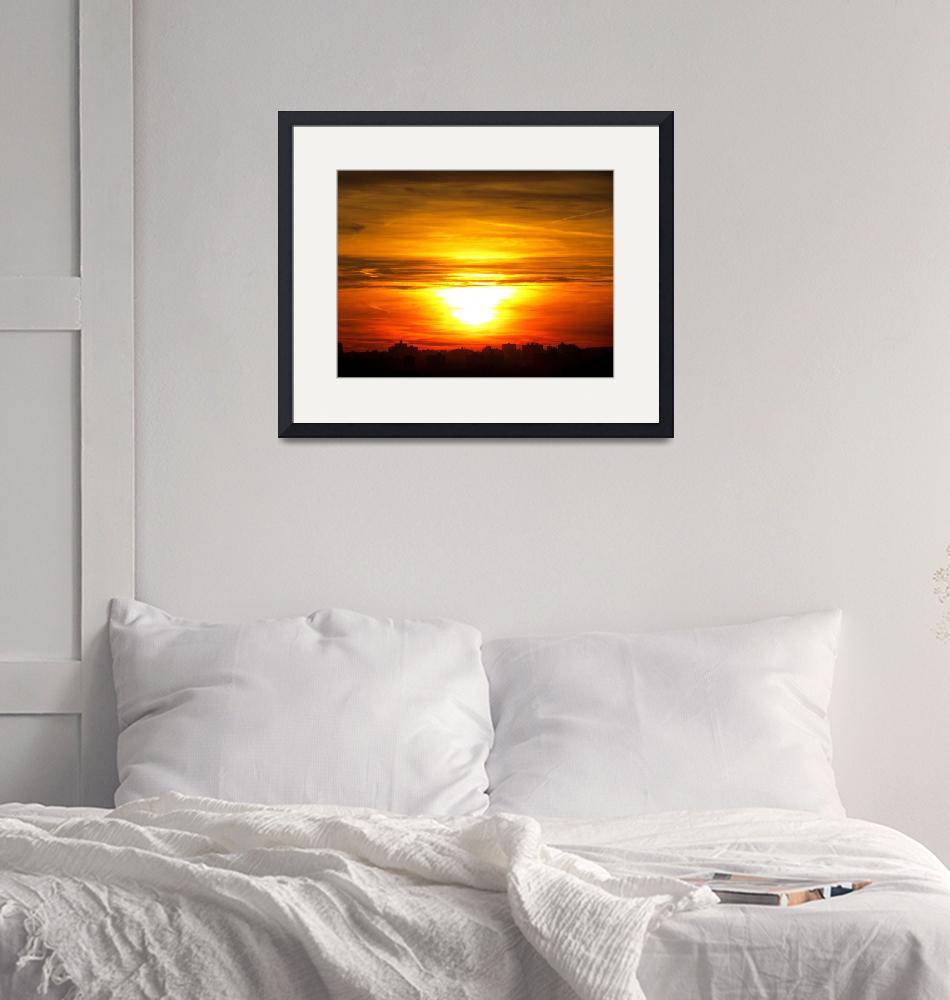 """""""Sunset in New York City"""" (2011) by biriart"""