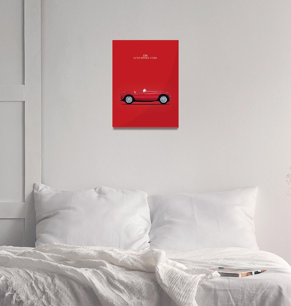 """The Ferrari 166""  (1950) by mark-rogan"
