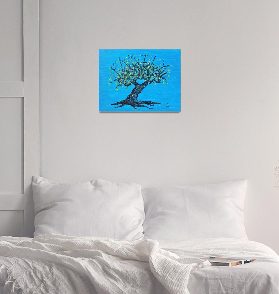 """Family Love Tree with foliage""  (2017) by LoveTreeArt"