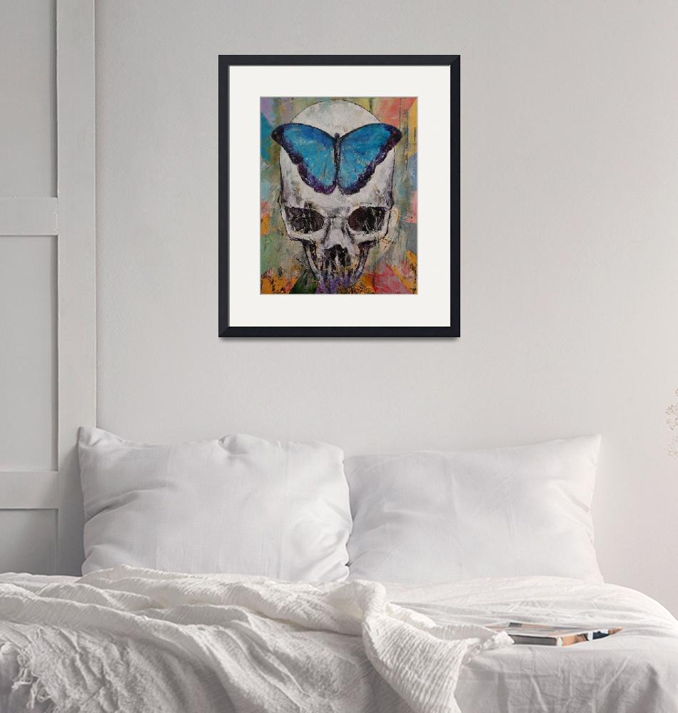 """""""Butterfly Skull""""  by creese"""