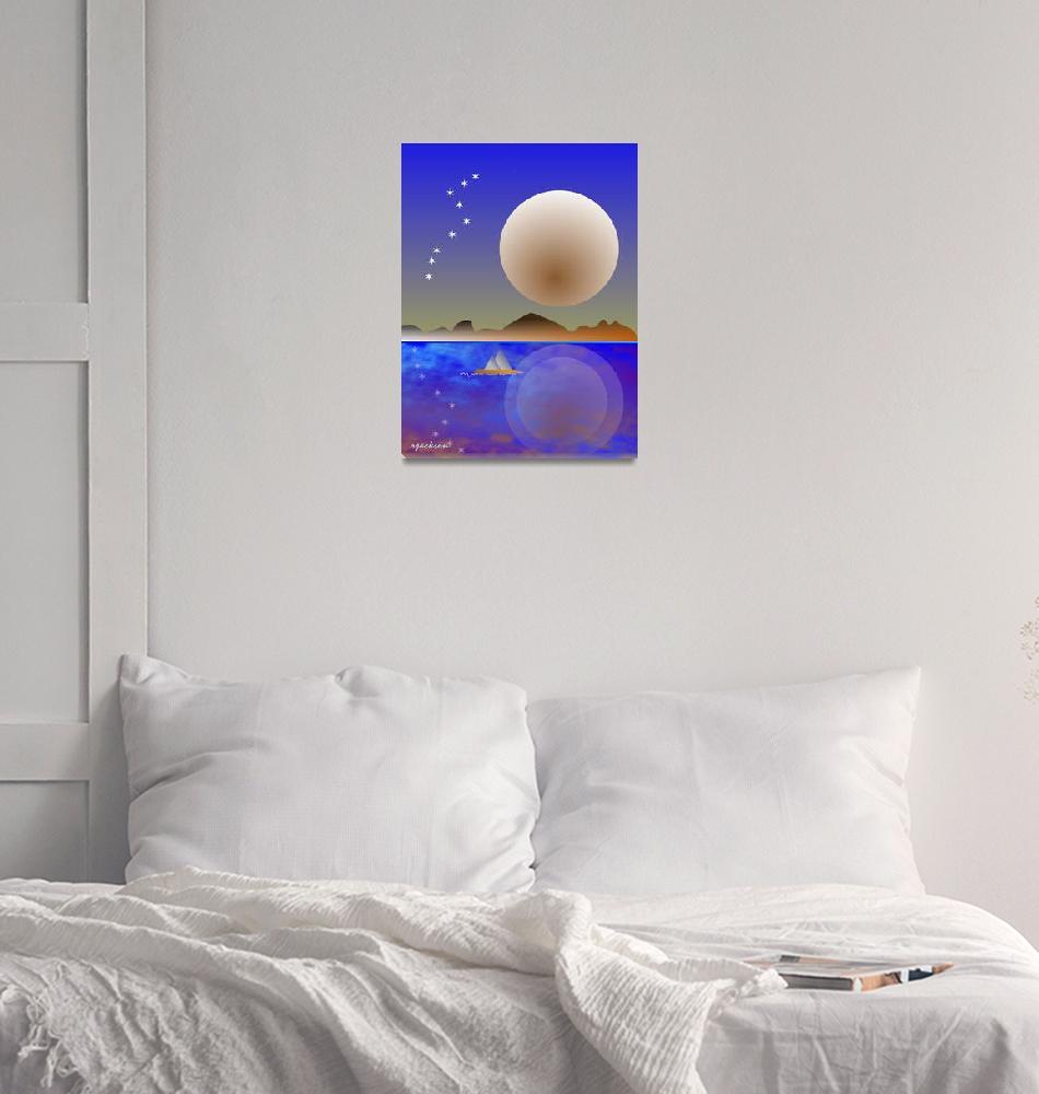 """Moonlight Sail""  by rjackson"