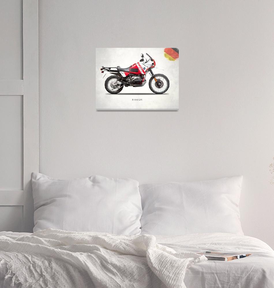 """""""The R100GS Paris-Dakar""""  (1991) by mark-rogan"""