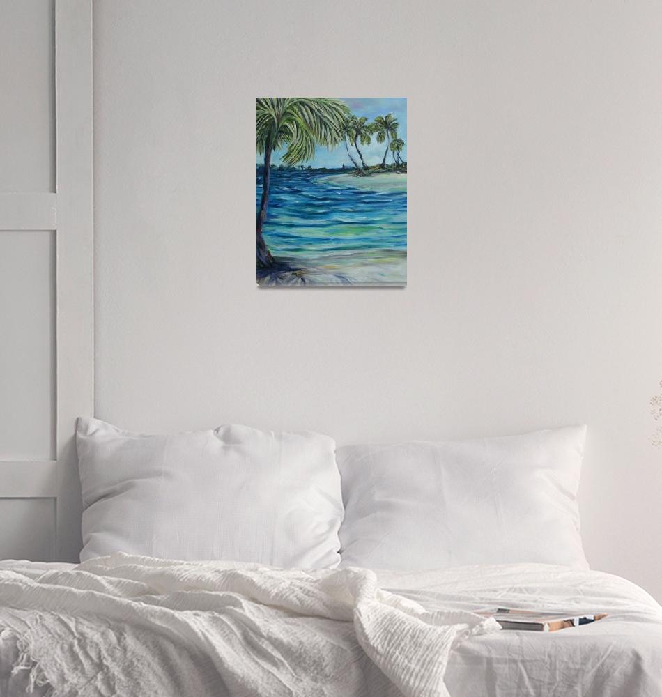 """""""Waves around my little island""""  (2008) by artistamy"""