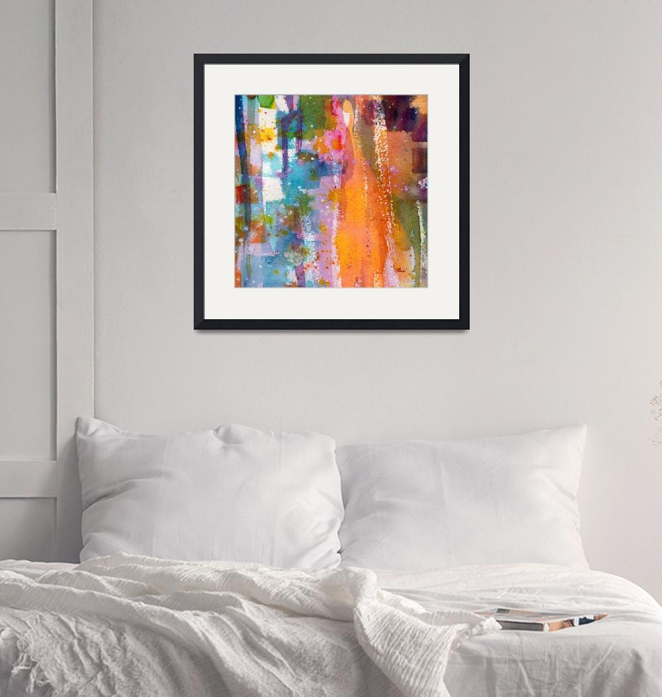 """""""Abstract Watercolor The Orange Slice by Ginette""""  (2014) by GinetteCallaway"""