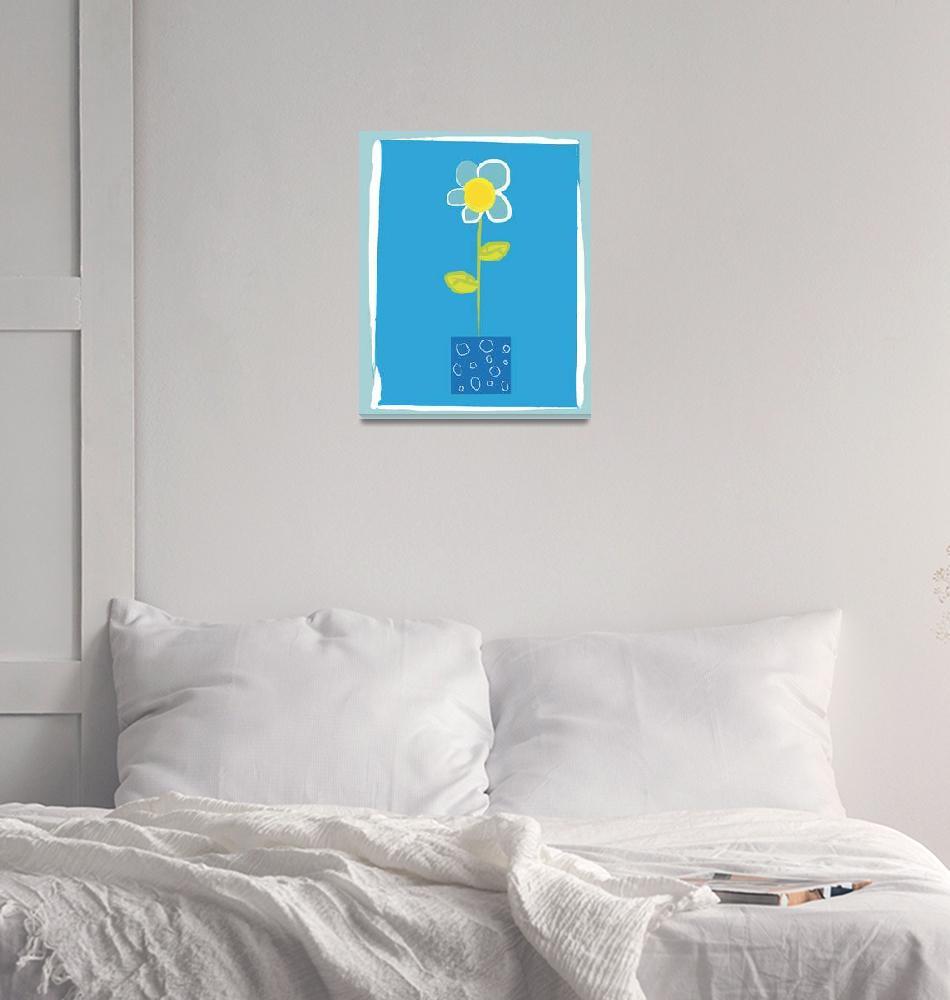 """Blue Flower""  by artlicensing"