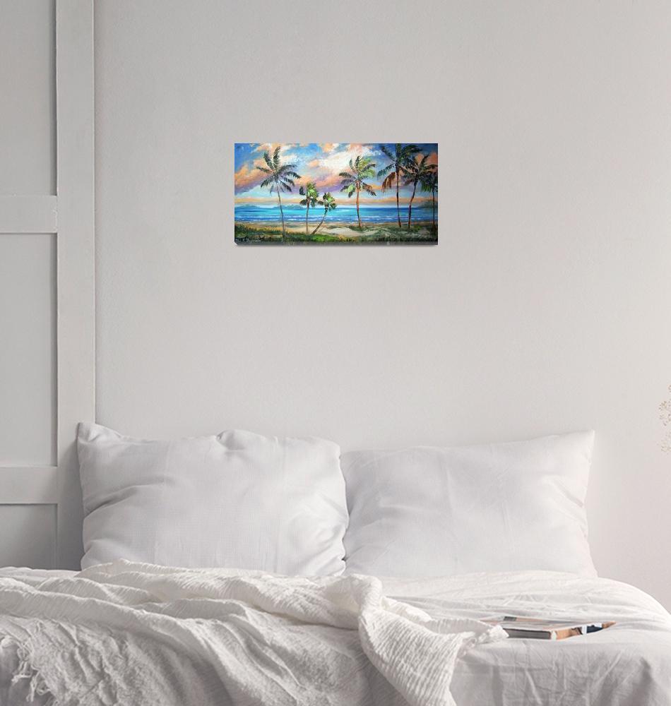 """Tropical Island Beach""  (2011) by mazz"