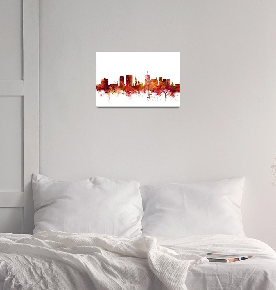 """""""Christchurch New Zealand Skyline""""  (2018) by ModernArtPrints"""