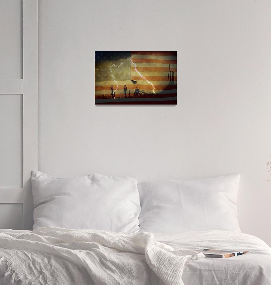 """Patriotic Desert Storm""  (2010) by lightningman"