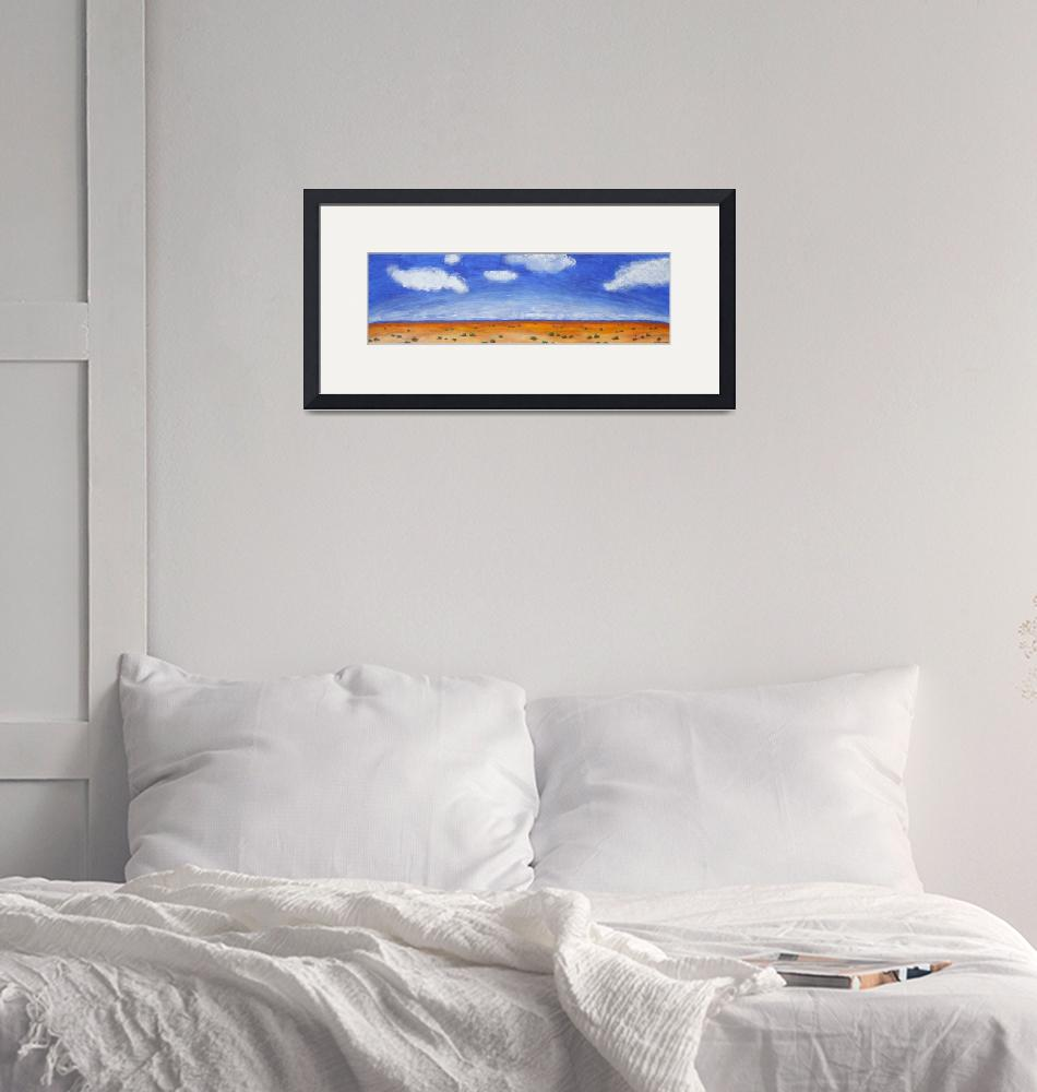 """HORIZON (Outback Australia)""  (2008) by RoseLangfordPrints"