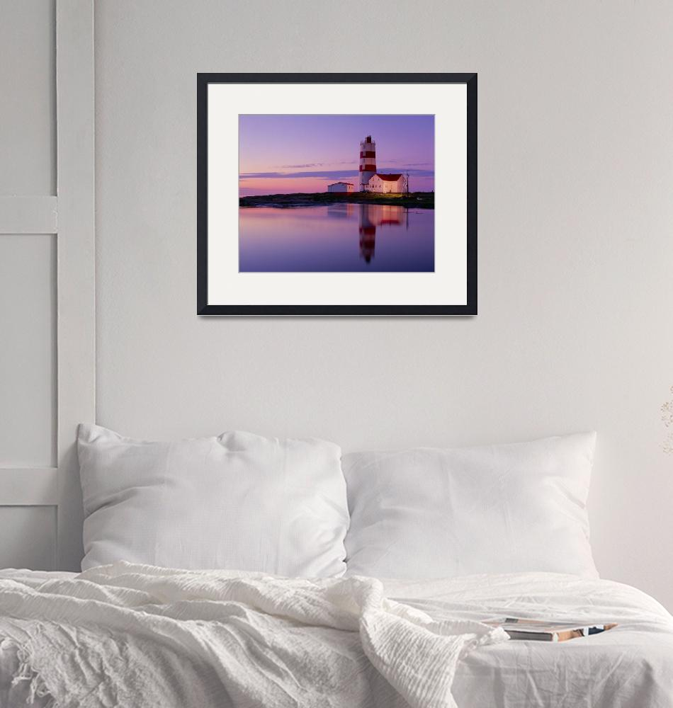 """Pointe Des Monts Lighthouse At Dawn, Quebec, Canad""  by DesignPics"