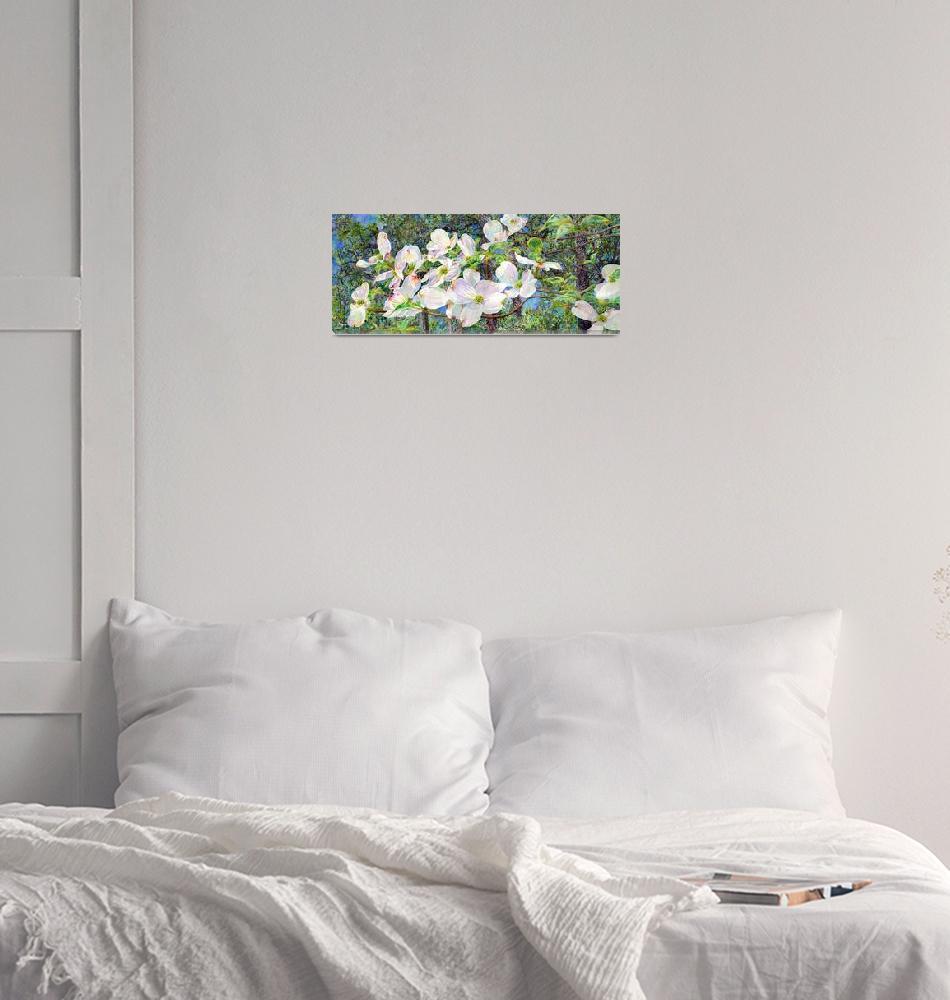 """View Beyond Dogwood-flowering dogwood""  by HaileyWatermedia"