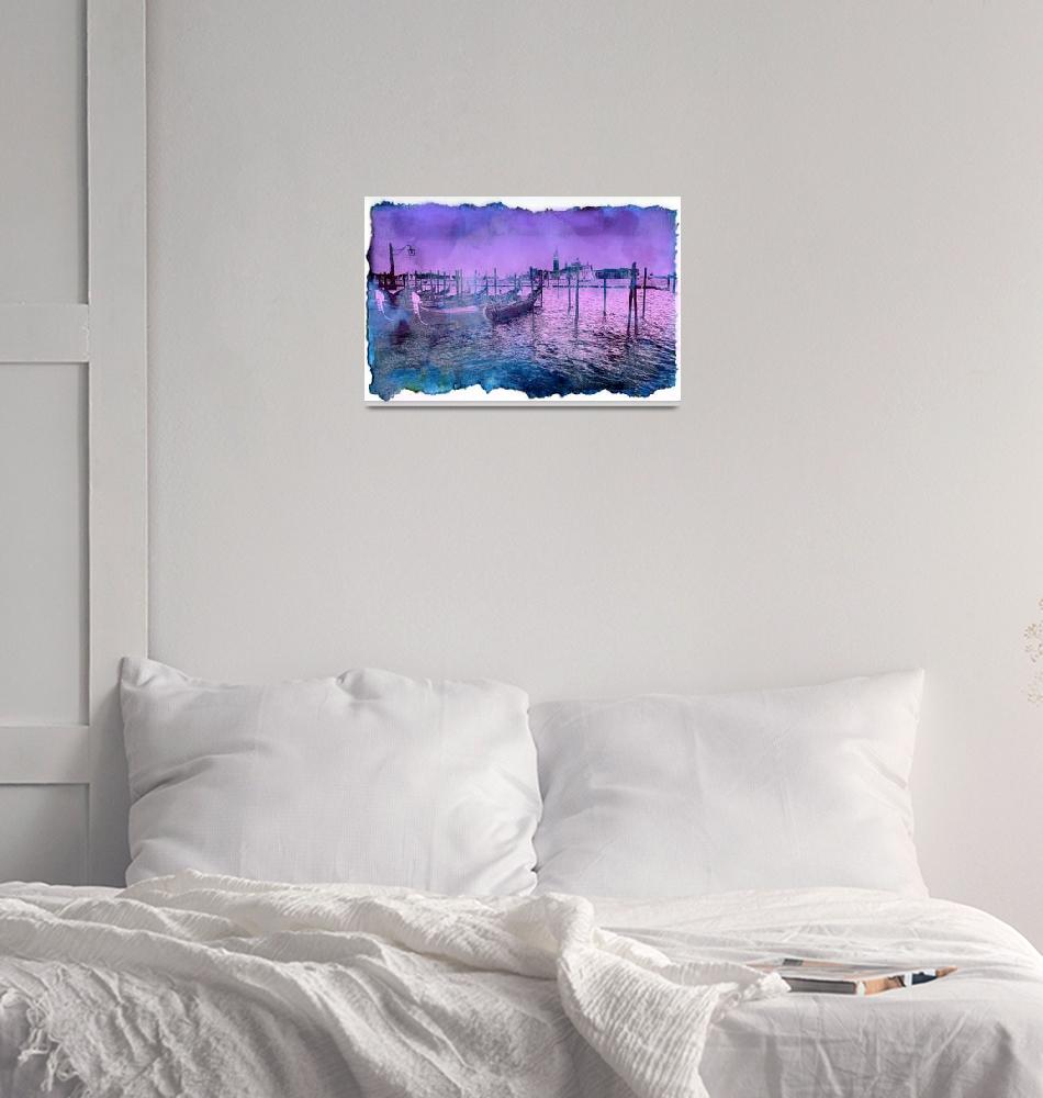 """Venice by night""  (2015) by amira"