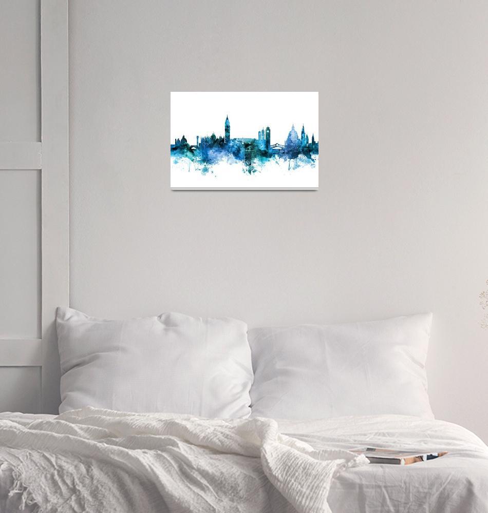 """""""Venice Italy Skyline""""  (2018) by ModernArtPrints"""