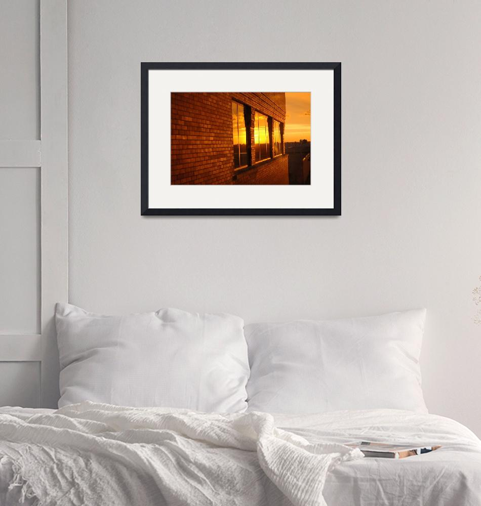 """""""Building at sunset""""  (2009) by budrobertson"""