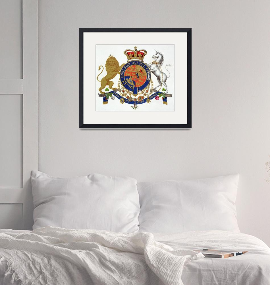 """""""Crest of the King of the United Kingdom of Great B""""  by fineartmasters"""