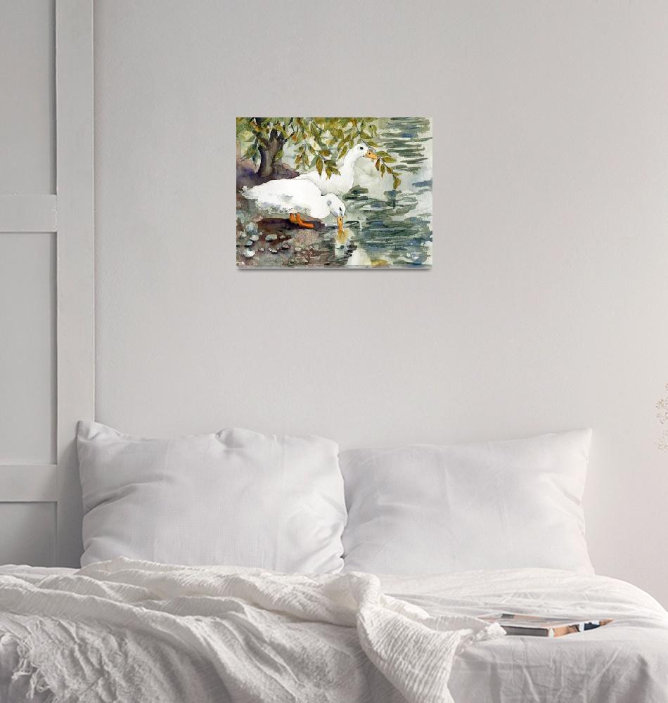"""Duck Bird Watercolor Art, Feelin"