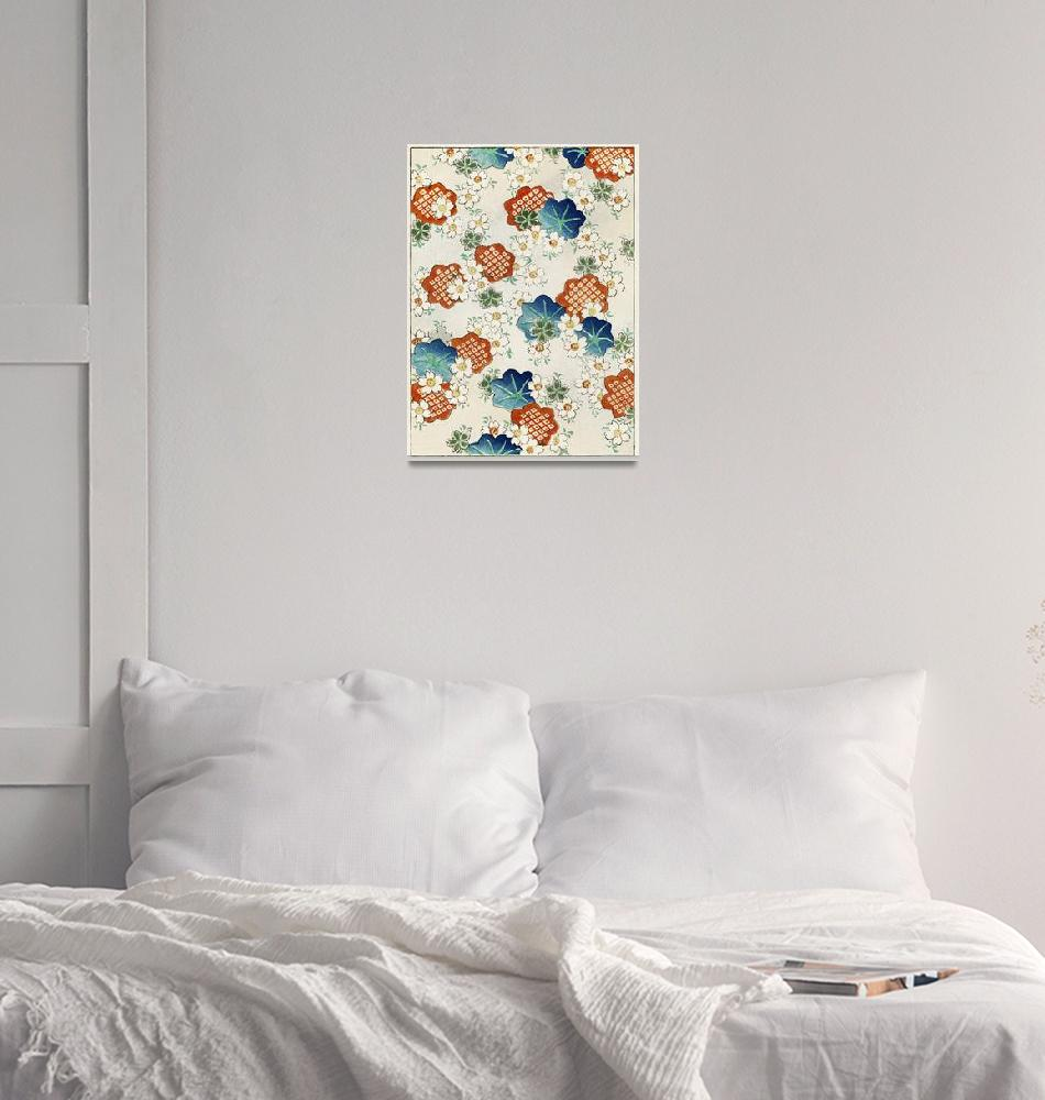 """Floral Pattern I by Bijutsu Sekai""  by FineArtClassics"