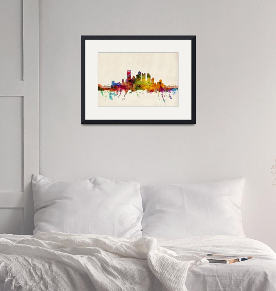 """Pittsburgh Pennsylvania Skyline"" (2013) by ModernArtPrints"