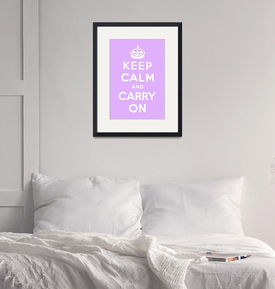 """""""Purple Keep Calm And Carry On 4""""  by oldies"""