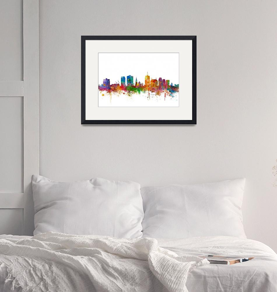 """Christchurch New Zealand Skyline""  (2014) by ModernArtPrints"