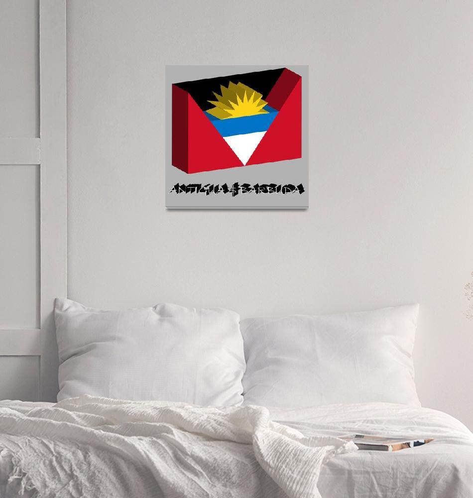 """antigua and barbuda 3d flag""  by robertosch"