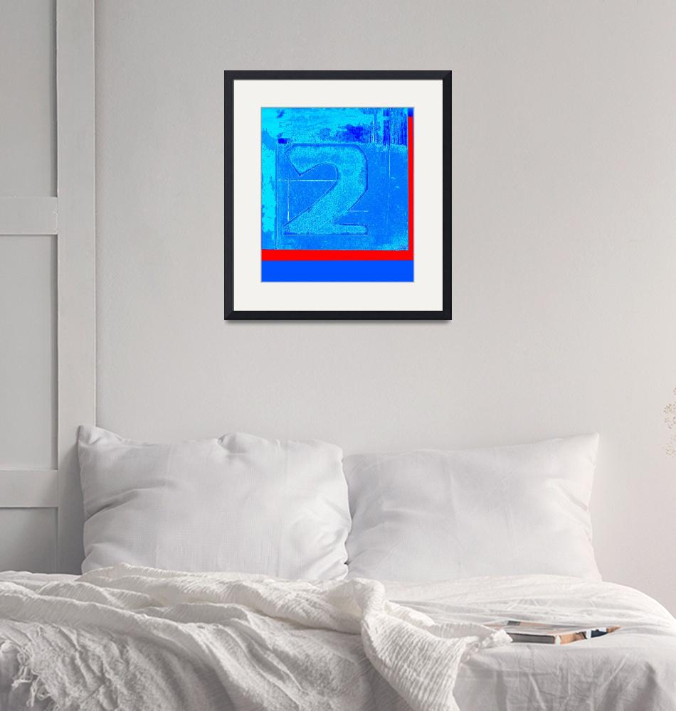 """""""Print two blue with a red stripe""""  (2009) by literal-illustrations"""