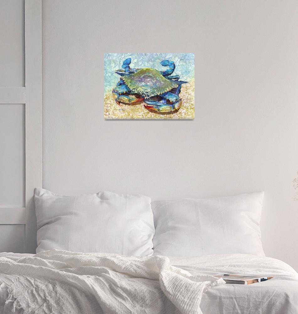 """Blue Crab-pastel colors""  by HaileyWatermedia"