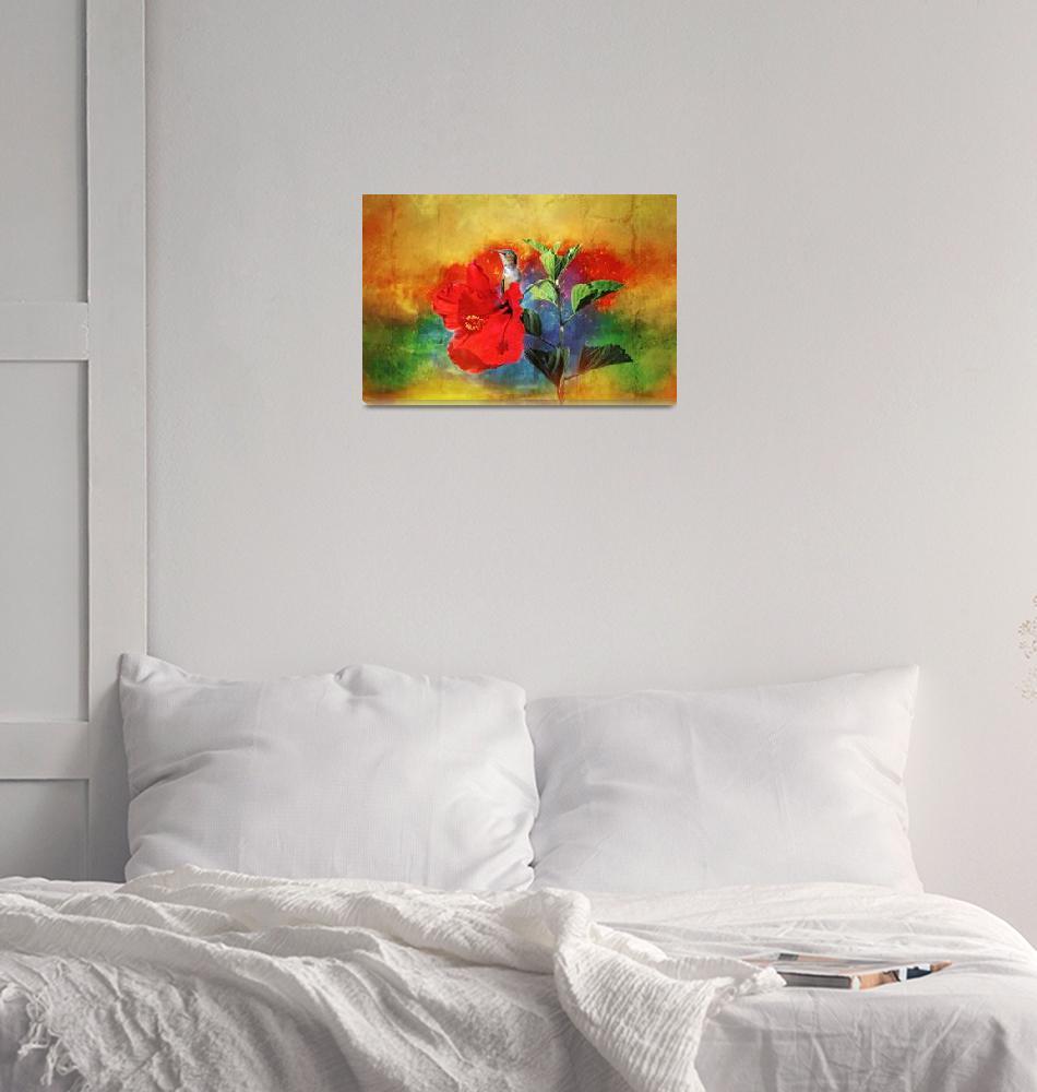 """Hummingbird Garden Delight""  (2015) by LynnBauer"