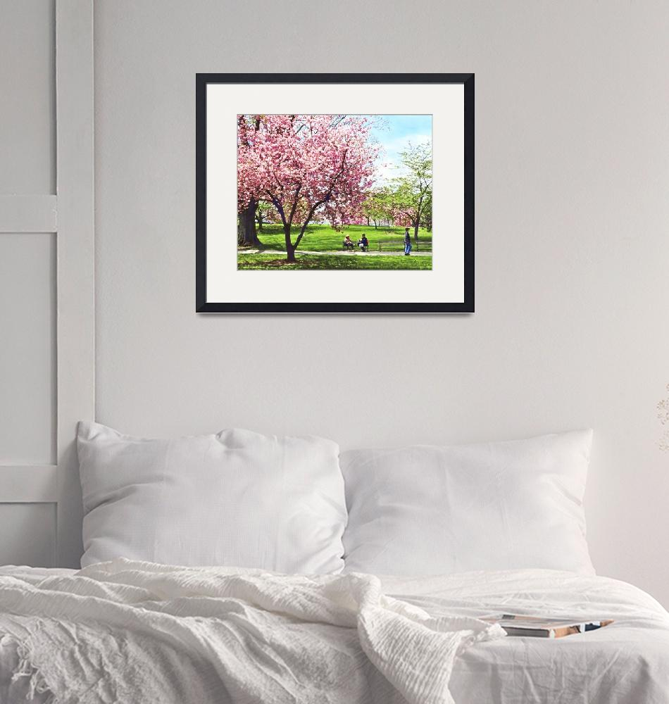 """""""Newark NJ - Lunch and Cherry Blossoms""""  by susansartgallery"""
