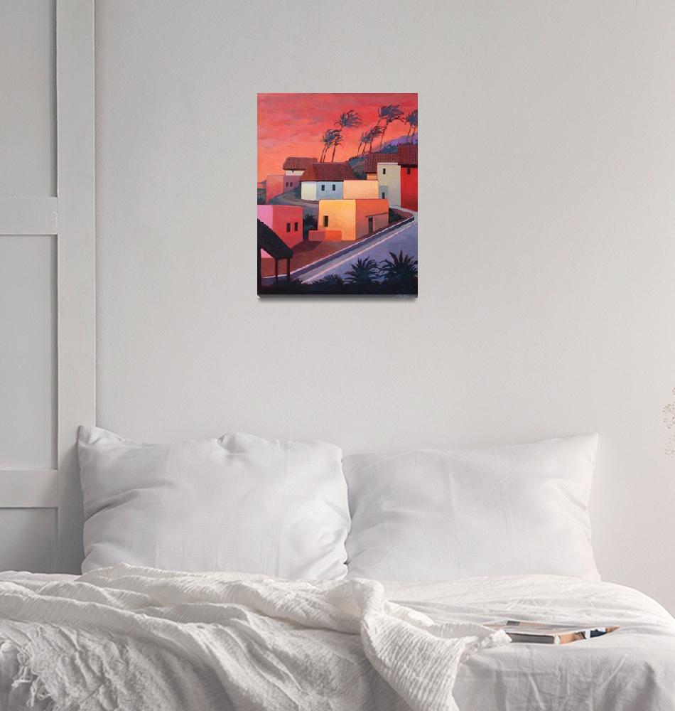 """Mexican Coast Village""  (2009) by RICKKERSTEN"