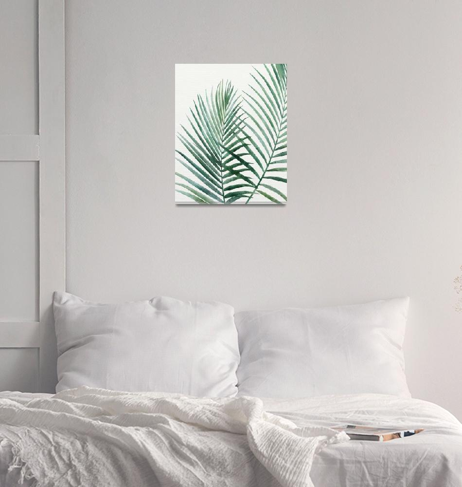 """Emerald Palms""  (2018) by moderntropical"