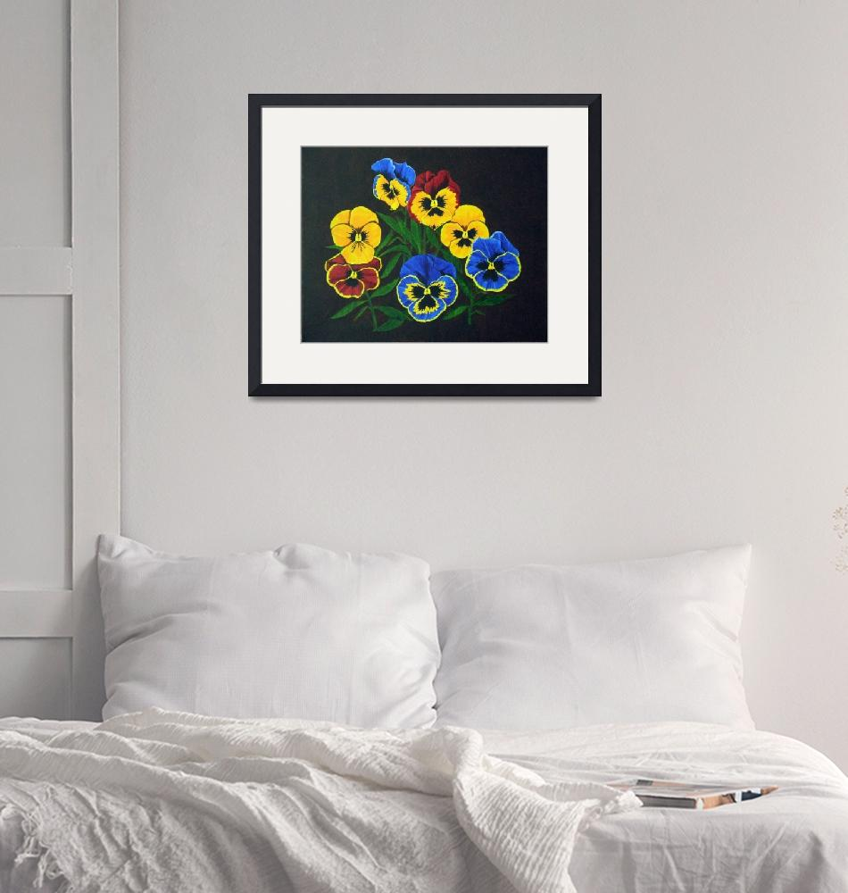 """Pansy Lions""  (2004) by BrandyHouse"