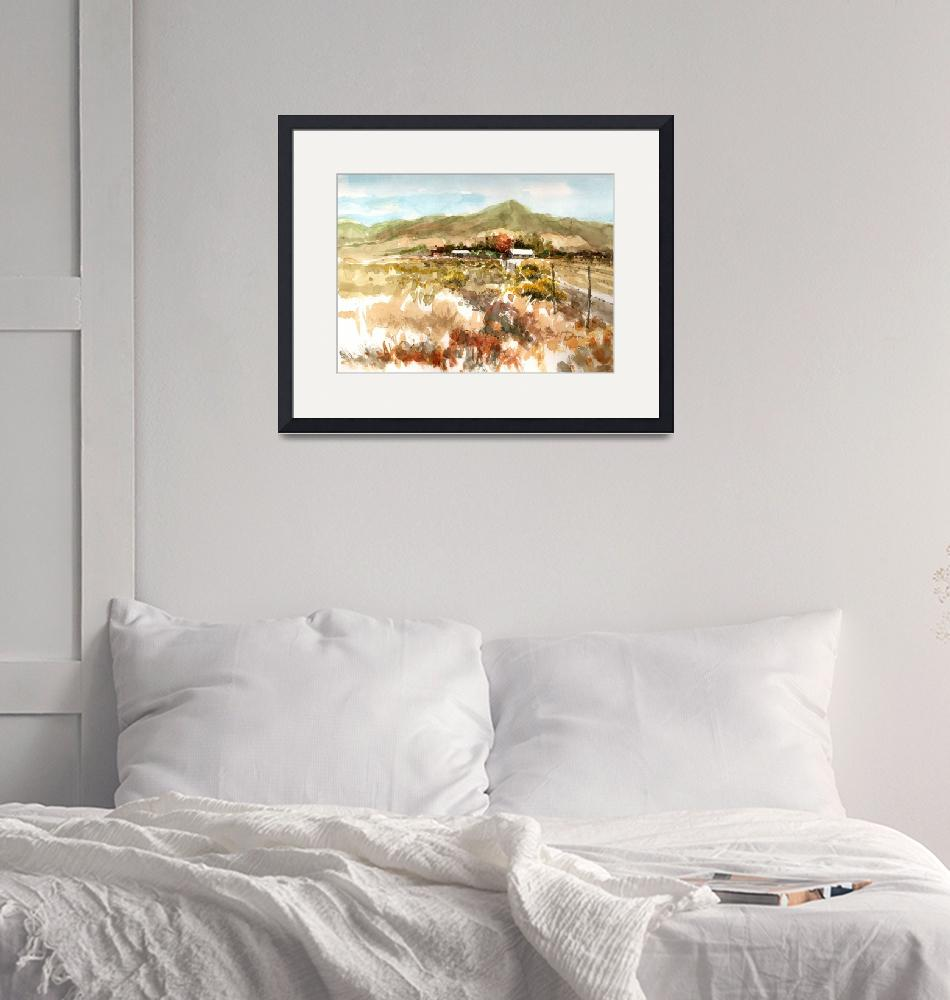 """""""Tehachapi Ranch.350ppi""""  (2013) by WilliamDunn"""