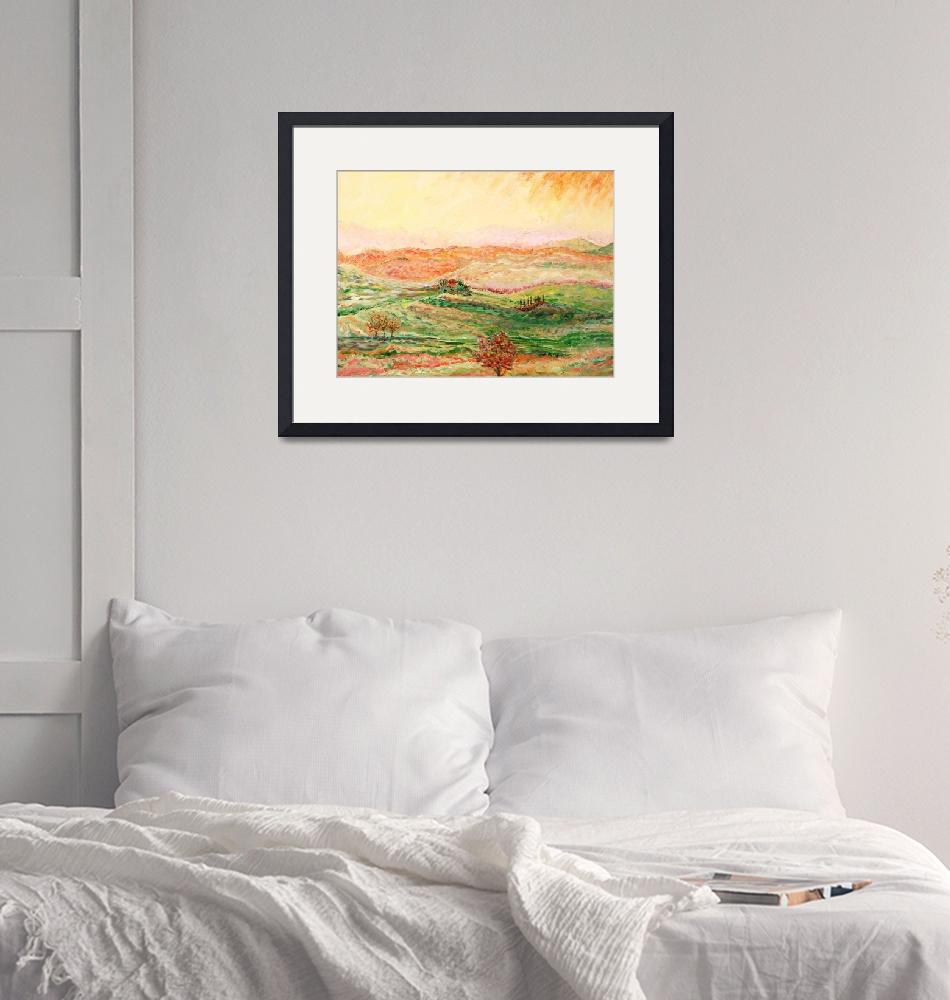 """""""Tuscany Sunscape""""  (2007) by nadinerippelmeyer"""