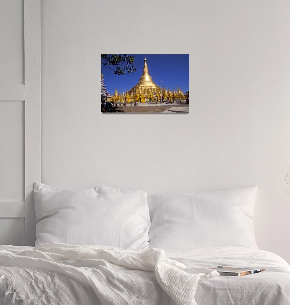 """Shwedogon Pagoda in Rangoon""  by sostroff"