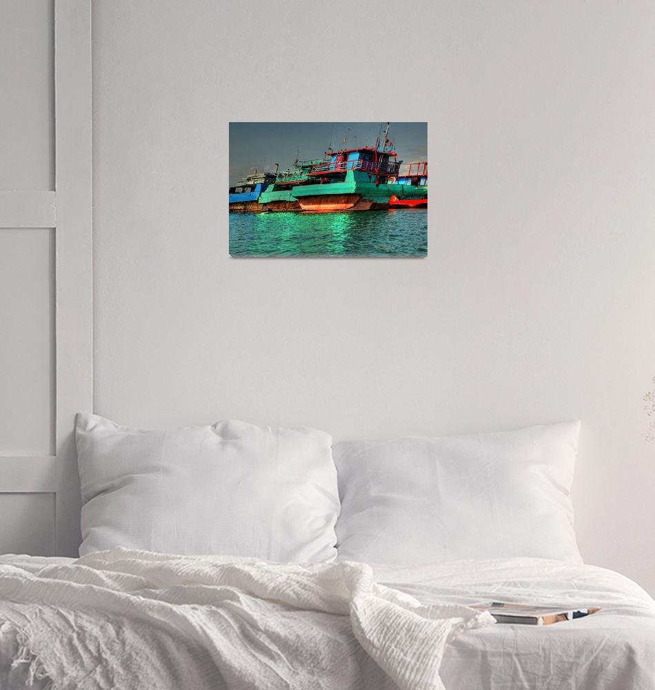 """Bali Boats""  (2009) by wildmilne"