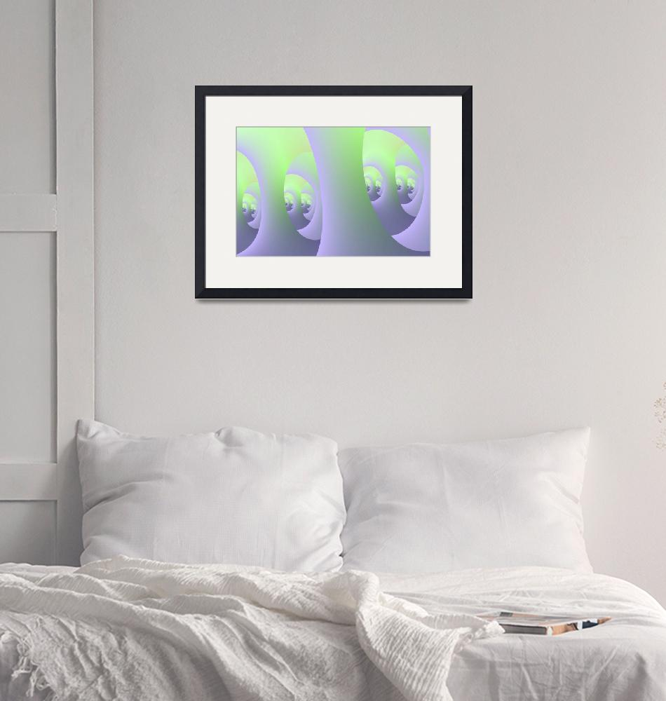 """""""Labyrinth in Lilac and Green""""  (2012) by Objowl"""
