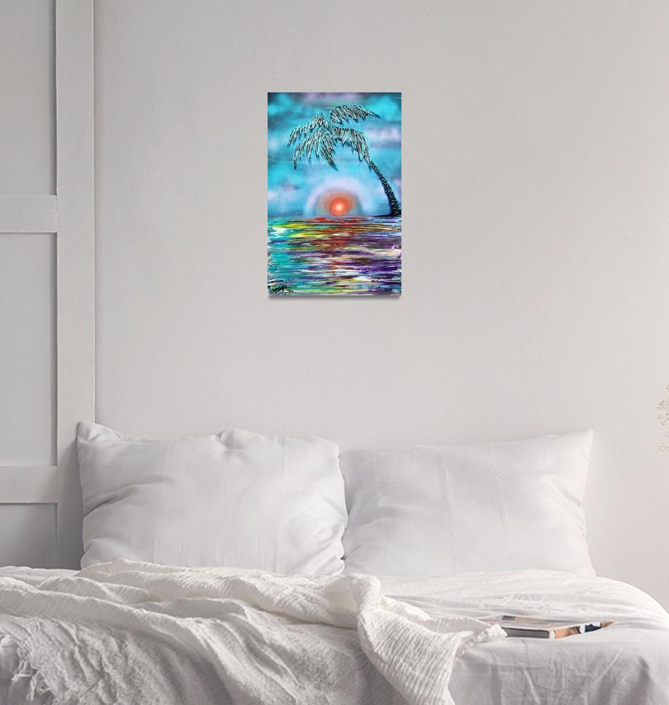 """Tropical Sunset""  (2015) by ArtPrints"