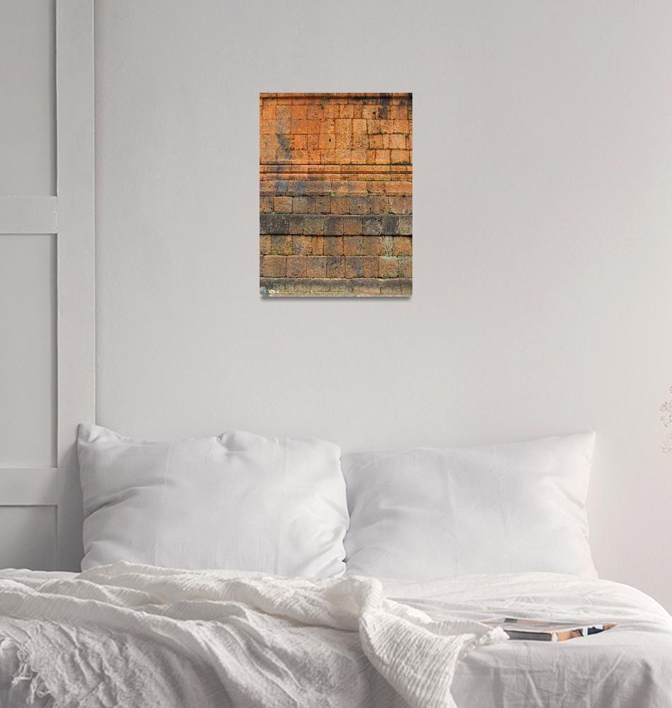 """Pre Rup Temple Wall""  (2011) by Markomarko"