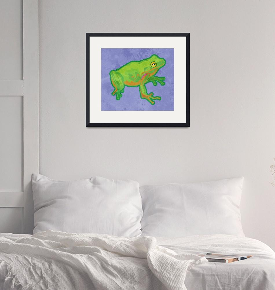 """Green Tree Frog""  (2012) by maryostudio"