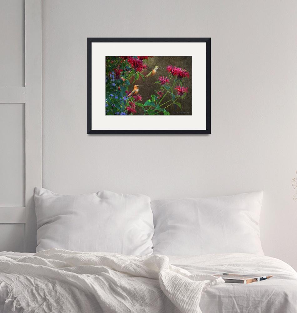 """""""flowers red and blue""""  (2017) by rchristophervest"""