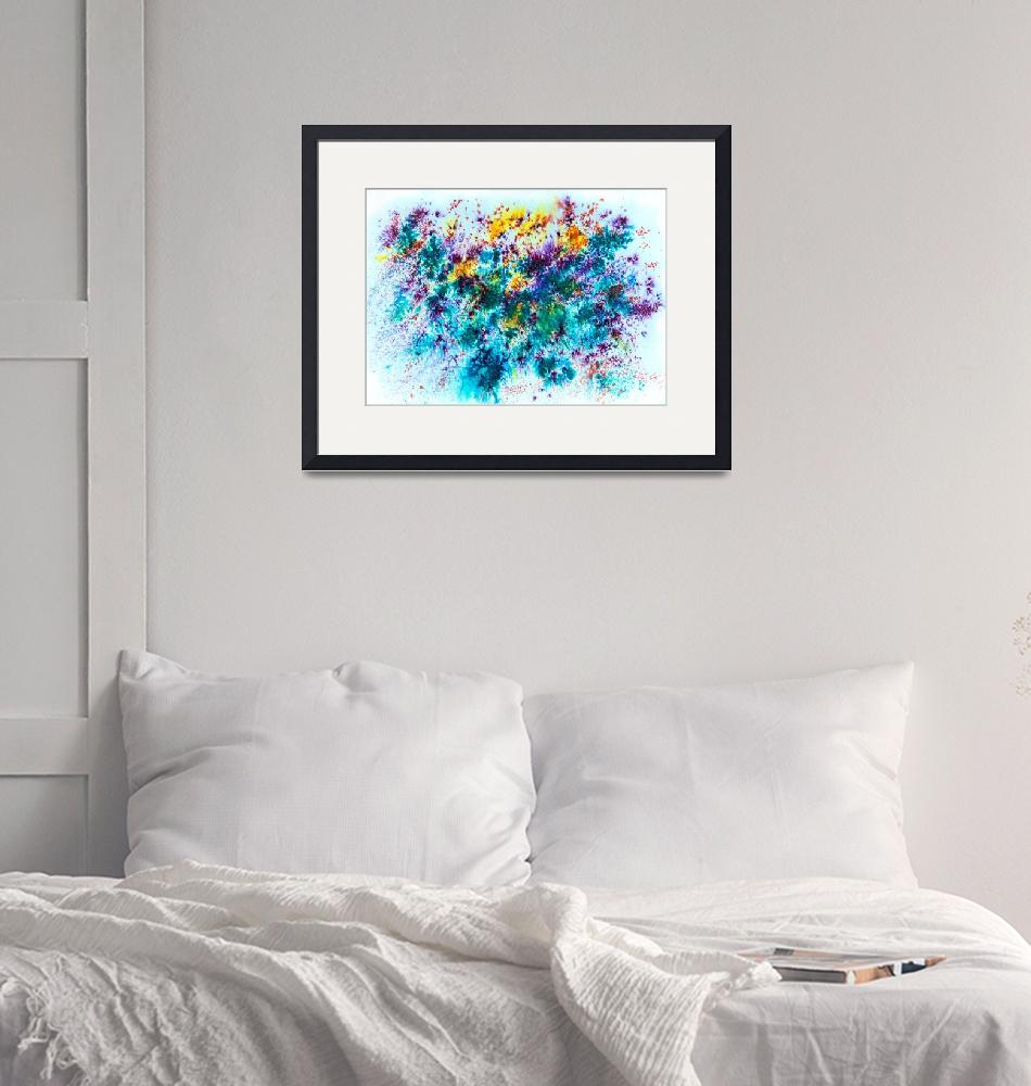 """""""Watercolor and mixed media abstract""""  by Art_by_Lilia"""